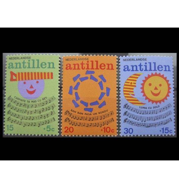 """Нидерландские Антиллы 1974 г. """"Детские песни"""""""