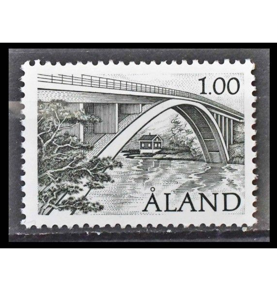 """Аландские острова 1987 г. """"Стандартная марка: Мост"""""""