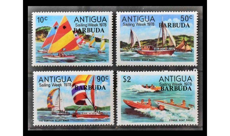 "Барбуда 1978 г. ""Парусная неделя 1978, марки Ангильи"" (надпечатка)"