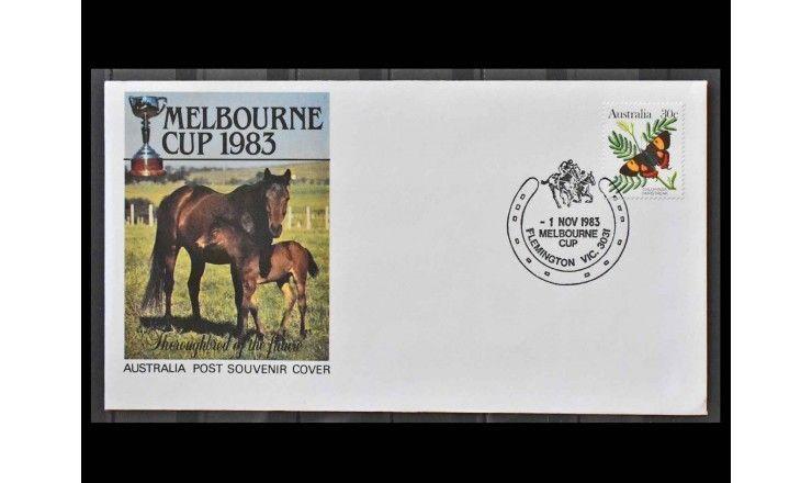 """Австралия 1983 г. """"Стандартные марки: Исчезающие животные - Бабочки"""""""