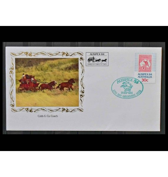 "Австралия 1984 г. ""Международная выставка марок AUSIPEX`84, Мельбурн"""