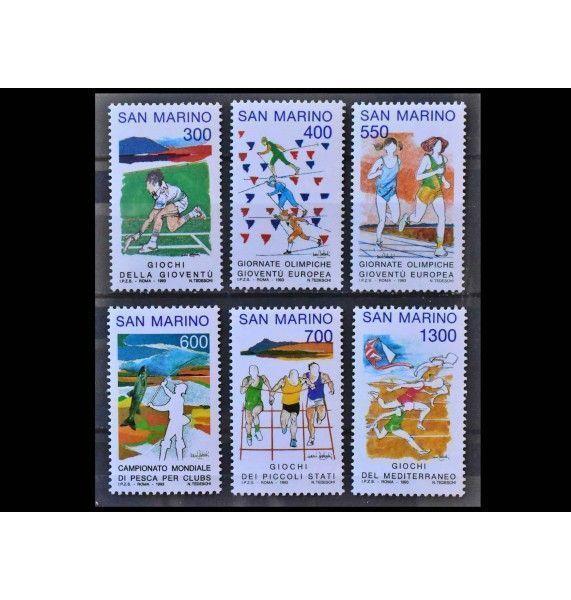 """Сан-Марино 1993 г. """"Молодёжные спортивные игры; Европейский юношеский олимпийский фестиваль; Командный чемпионат мира по спортивной рыбалке"""""""