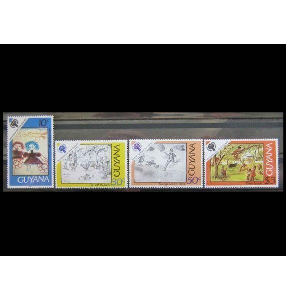 """Гайана 1979 г. """"Международный год ребенка: детские рисунки"""""""