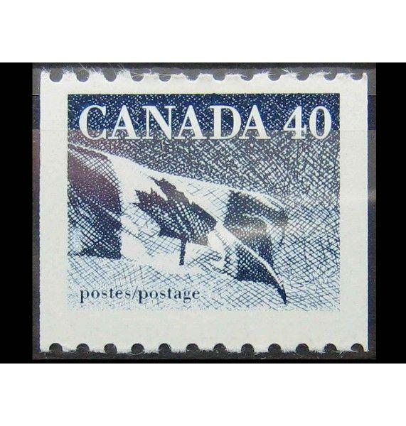 """Канада 1990 г. """"Национальный флаг"""""""