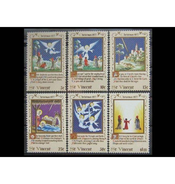 """Сент-Винсент и Гренадины 1977 г. """"Рождество"""""""