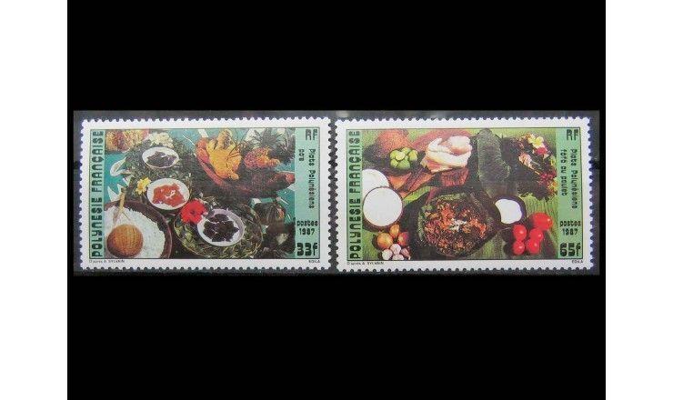 """Французская Полинезия 1987 г. """"Полинезийская кухня"""""""