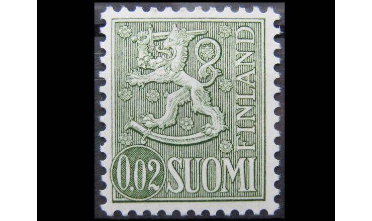 """Финляндия 1968 г. """"Геральдический лев"""""""