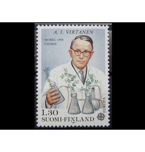 """Финляндия 1980 г. """"Арттури Виртанен, Нобелевская премия по химии"""""""