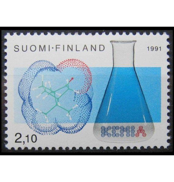 """Финляндия 1991 г. """"100 лет финскому химическому обществу"""""""