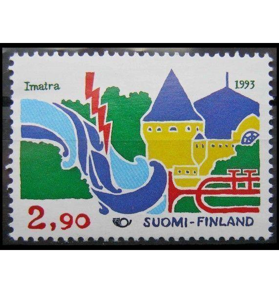 """Финляндия 1993 г. """"Городской пейзаж Иматры"""""""