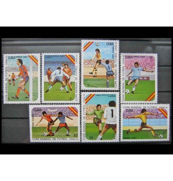 """Куба 1982 г. """"Чемпионат мира по футболу, Испания"""""""