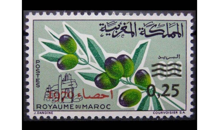 """Марокко 1970 г. """"Оливковая ветвь с плодами"""""""
