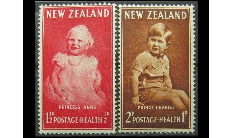 """Новая Зеландия 1952 г. """"Принцесса Анна и принц Чарльз"""""""