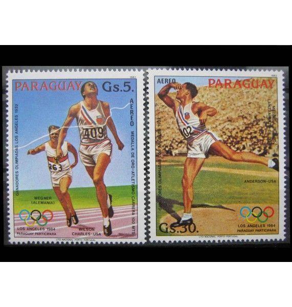 """Парагвай 1983 г. """"Летние Олимпийские игры 1984, Лос-Анджелес"""""""
