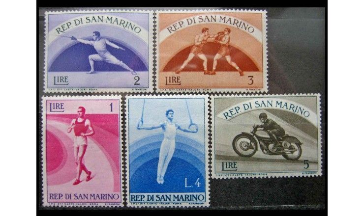 """Сан-Марино 1954 г. """"Спорт"""""""