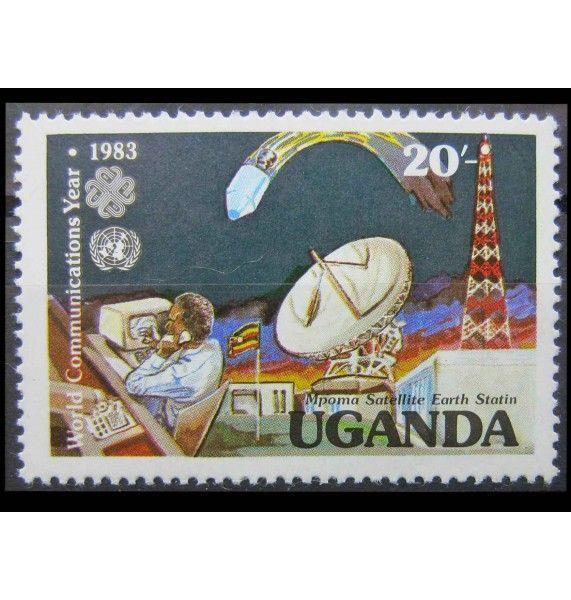 """Уганда 1983 г. """"Всемирный год связи"""""""