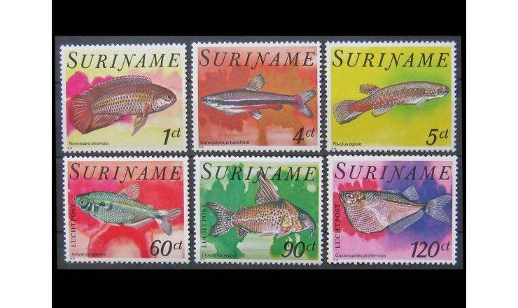 """Суринам 1978 г. """"Тропические рыбы"""""""