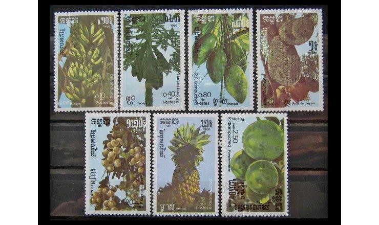 """Камбоджа 1986 г. """"Фрукты"""""""