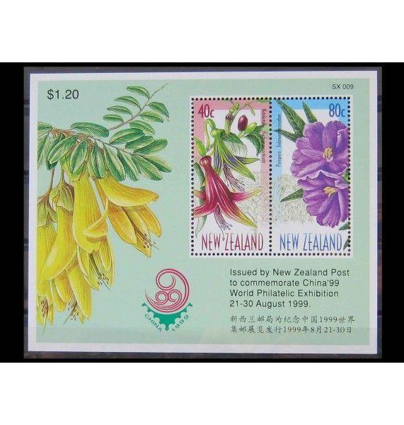 """Новая Зеландия 1999 г. """"Цветы"""""""