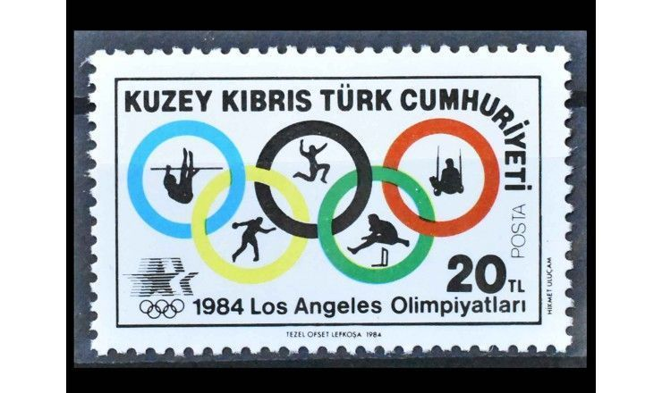 """Турецкий Кипр 1984 г. """"Летние Олимпийские игры, Лос-Анджелес"""""""