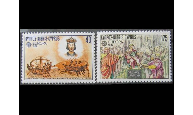 """Кипр 1982 г. """"Европа: Исторические события"""""""