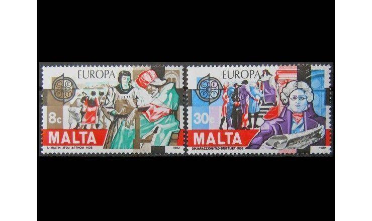 """Мальта 1982 г. """"Европа: Исторические события"""""""