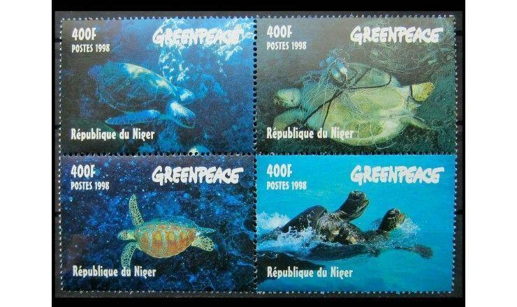 """Нигер 1998 г. """"Гринпис: морские черепахи"""""""