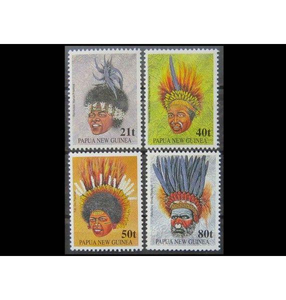 """Папуа-Новая Гвинея 1991 г. """"Традиционный головной убор"""""""