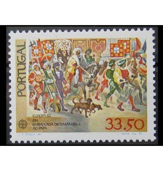 """Португалия 1982 г. """"Европа: Исторические события"""""""