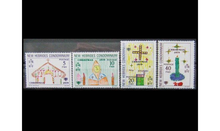 """Новые Гебриды 1979 г. """"Международный год ребенка: Рождество"""""""