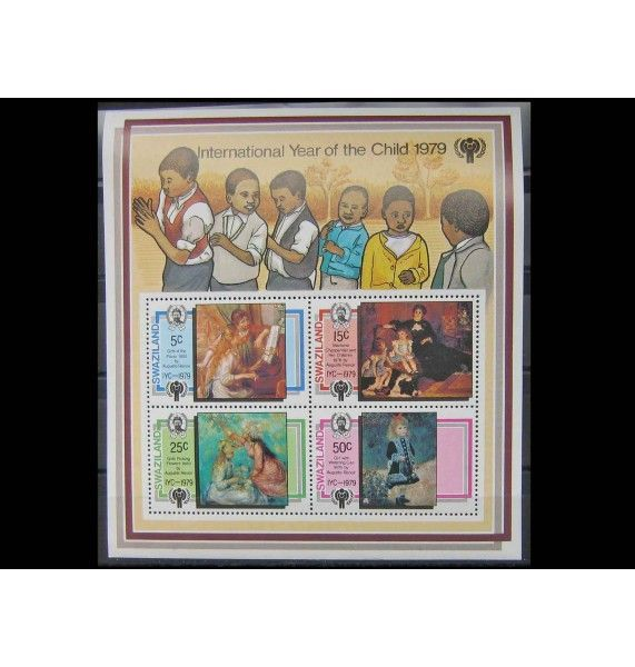 """Свазиленд 1979 г. """"Международный год ребенка: картины Ренуара"""""""