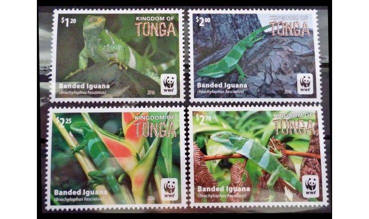 """Тонга 2016 г. """"WWF Охрана природы: полосатые игуаны"""""""