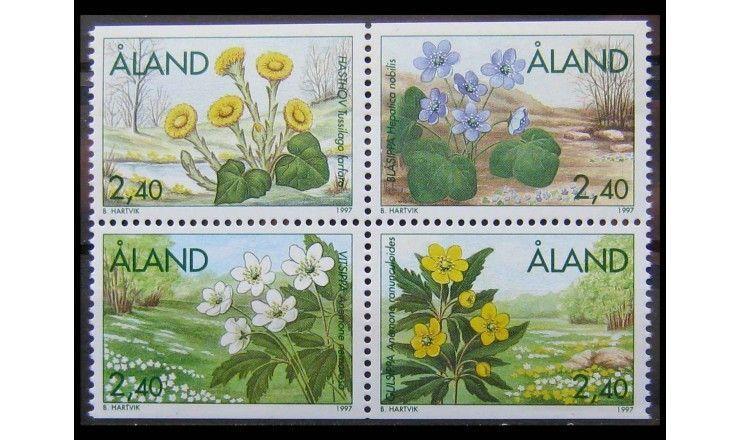 """Аландские острова 1997 г. """"Весенние цветы"""""""