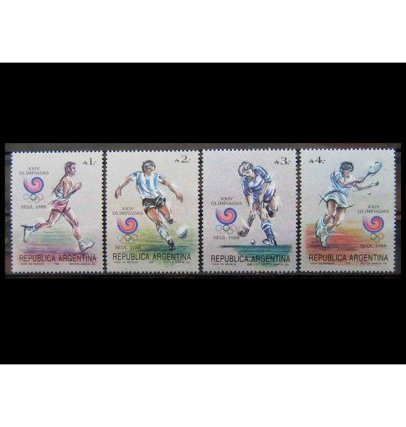 """Аргентина 1988 г. """"Летние Олимпийские игры, Сеул"""""""