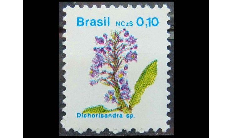 """Бразилия 1989 г. """"Цветы"""""""