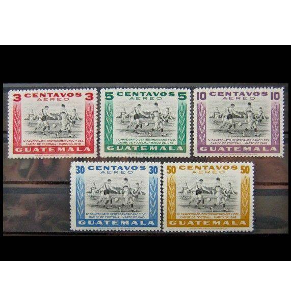 """Гватемала 1948 г. """"Чемпионат по футболу"""""""