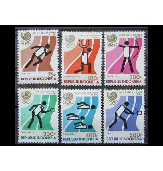 """Индонезия 1988 г. """"Летние Олимпийские игры, Сеул"""""""