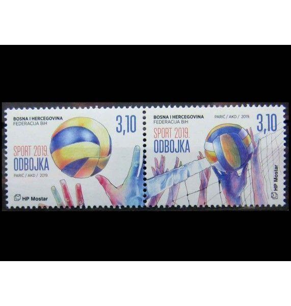 """Босния и Герцеговина - Хорватская администрация 2019 г. """"Волейбол"""""""