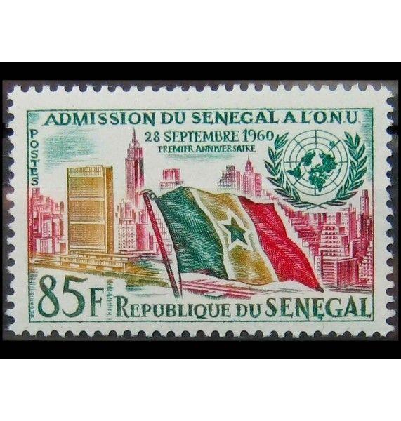 """Сенегал 1962 г. """"1-ая годовщина Членства в ООН"""""""