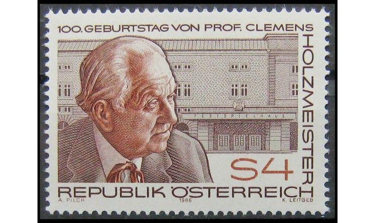 """Австрия 1986 г. """"100 лет со дня рождения К. Хольцмайстера"""""""
