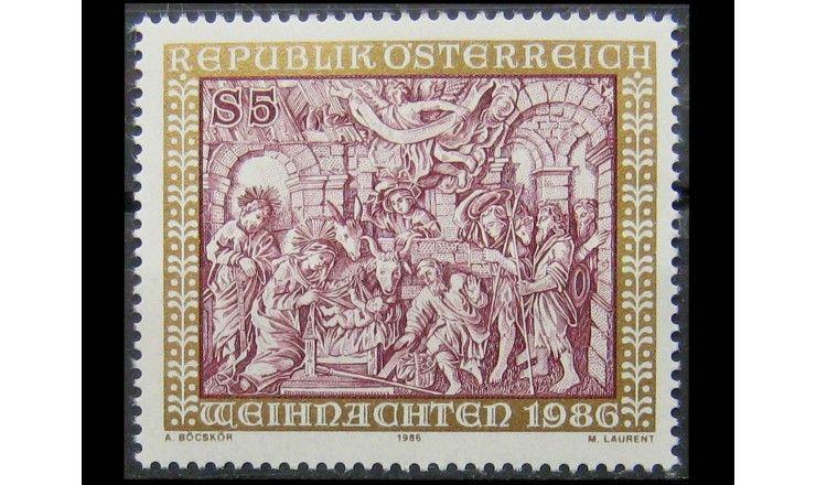 "Австрия 1986 г. ""Рождество"""
