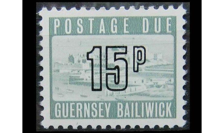 "Гернси 1976 г. ""Доплатная марка. Замок Корнет"""