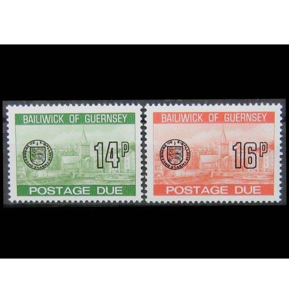 """Гернси 1980 г. """"Доплатная марка. Сент-Питер-Порт"""""""