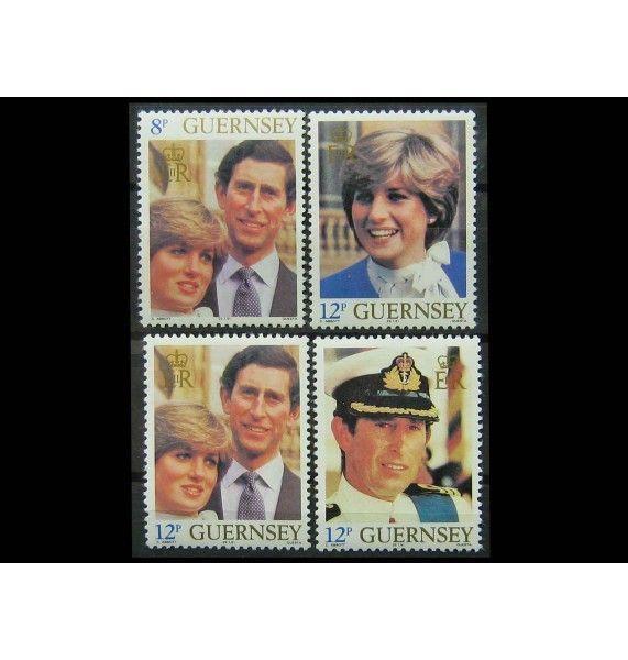 """Гернси 1981 г. """"Свадьба принца Чарльза и леди Дианы Спенсер"""""""