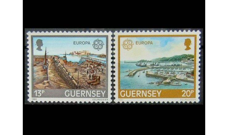 """Гернси 1983 г. """"Европа CEPT: Великие достижения человеческого гения"""""""