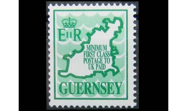 "Гернси 1989 г. ""Карта острова Гернси"""