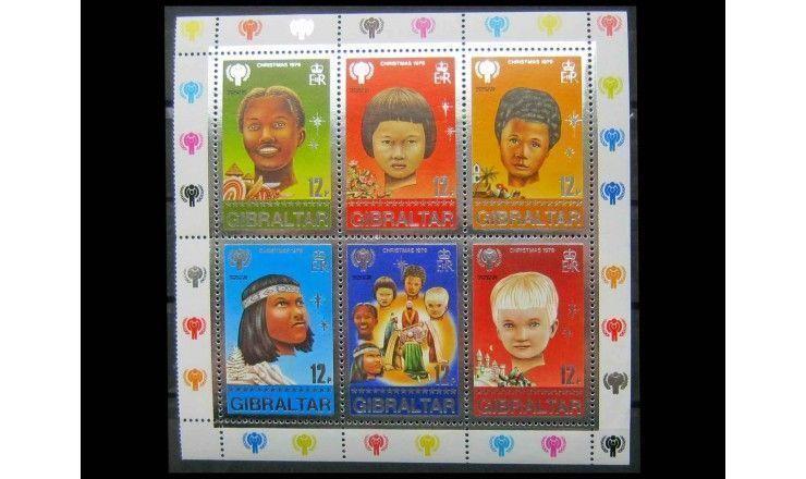 """Гибралтар 1979 г. """"Международный год ребенка, Рождество"""""""
