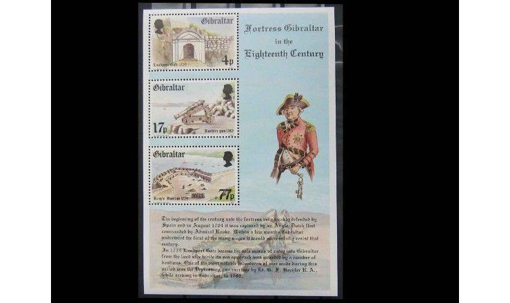 """Гибралтар 1983 г. """"Крепость Гибралтар в 18 веке"""""""