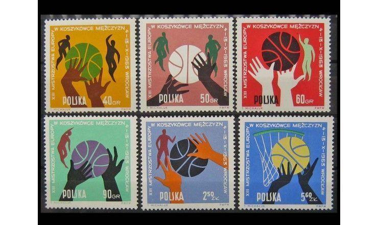 """Польша 1963 г. """"13-й Чемпионат Европы по баскетболу среди мужчин"""""""