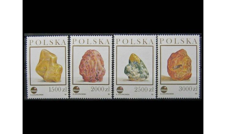 """Польша 1993 г. """"Международная выставка марок """"POLSKA '93. Янтарь"""""""